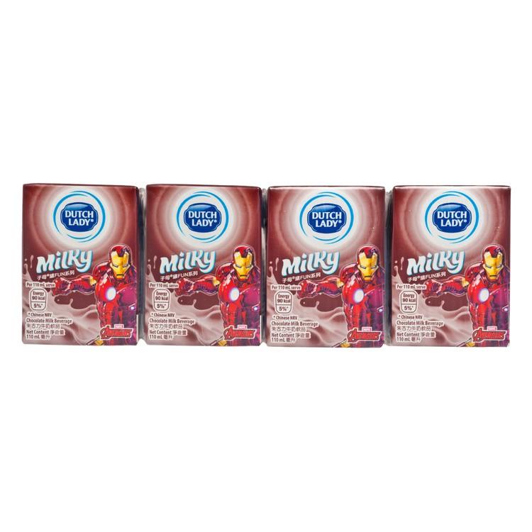 DUTCH LADY - MILKY CHOCOLATE MILK -RANDOM - 110MLX4