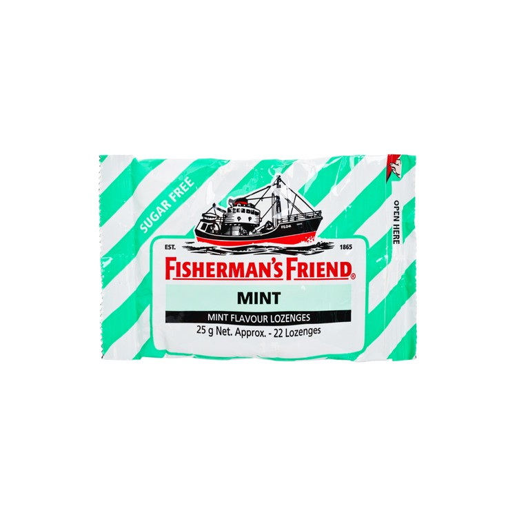 FISHERMAN'S FRIEND - SUGAR FREE MINT LOZENGES - 25G