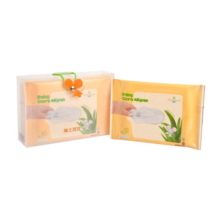 SWISSNATÜRLICH - NATURAL BABY CARE WIPES-LOTION WITH ALOE VERA - 5'SX5