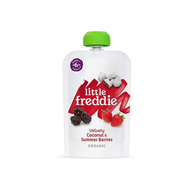 LITTLE FREDDIE - ORGANIC VELVETY COCONUT & SUMMER BERRIES - 100G