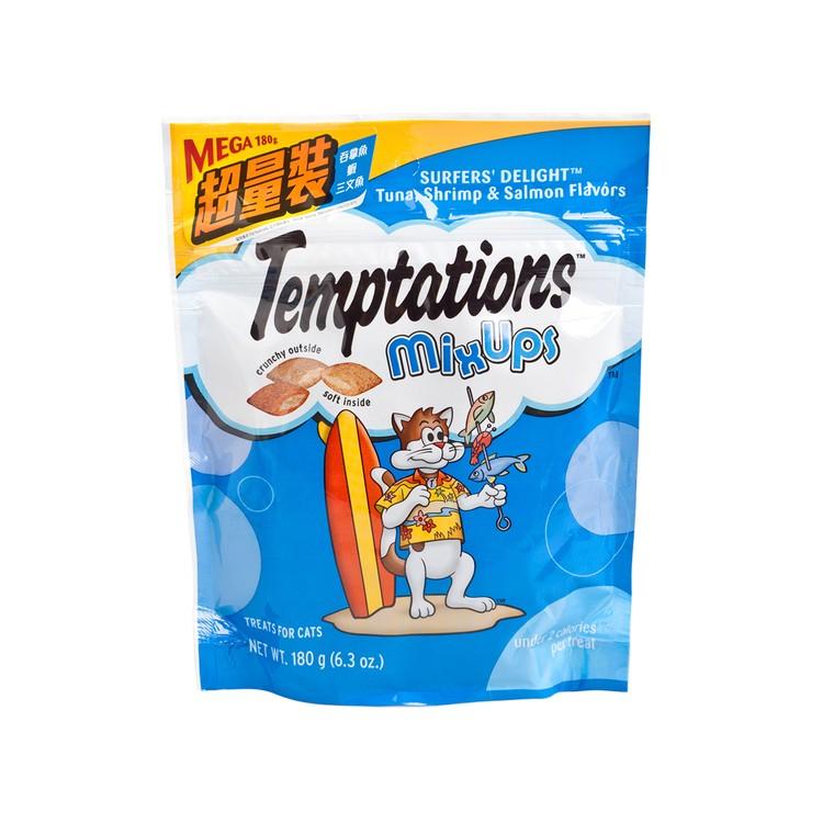 TEMPTATIONS - MIXUPS TUNA, SHRIMP & SALMON MEGA - 180G