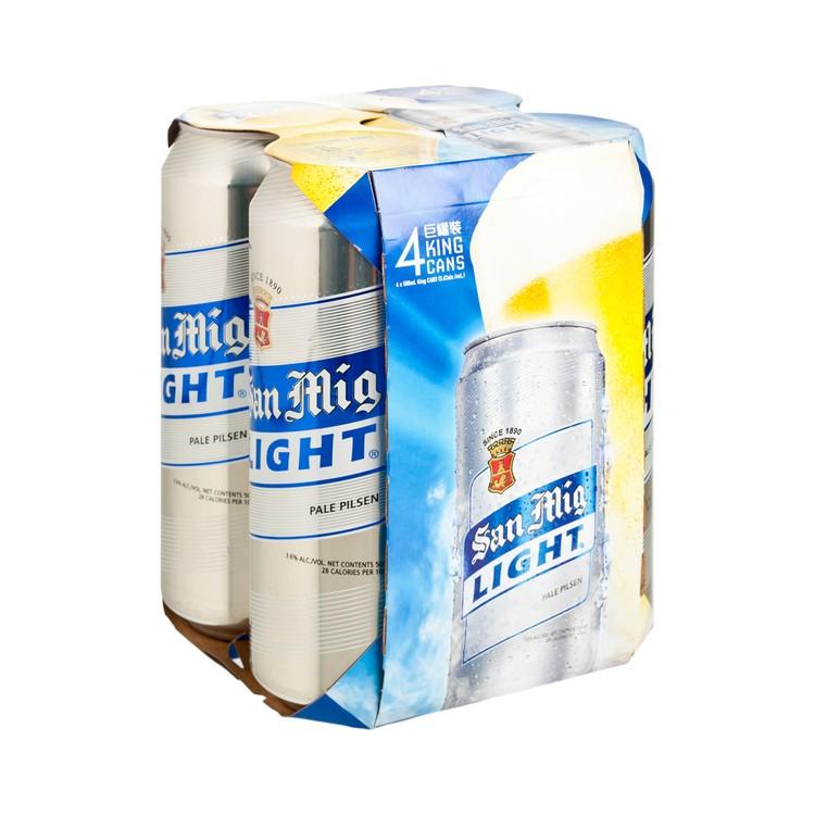 生力 - 清啤 (巨罐裝) - 500MLX4