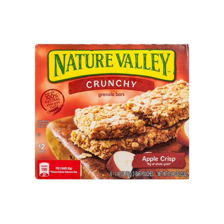NATURE VALLEY - CRUNCHY GRANOLA BAR-APPLE CRISP - 253G