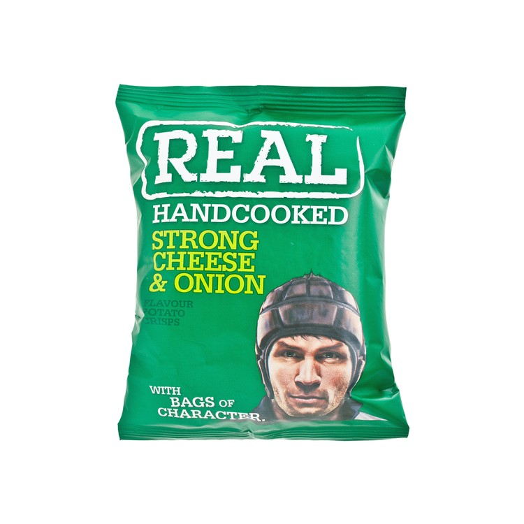REAL HAND COOKED CRISPS - STRONG CHEESE & ONION HAND COOKED CRISPS - 35G