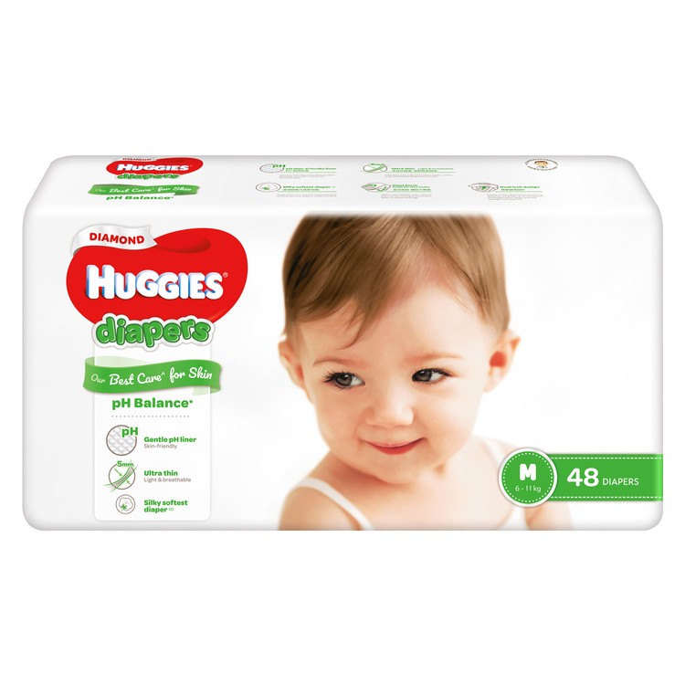 HUGGIES - DIAMOND DIAPER M - 48'S
