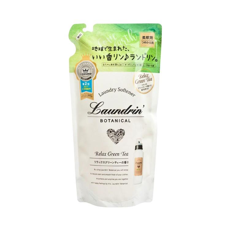 LAUNDRIN - BOTANICAL SOFTENER REFILL-RELAX GREEN TEA - 430ML
