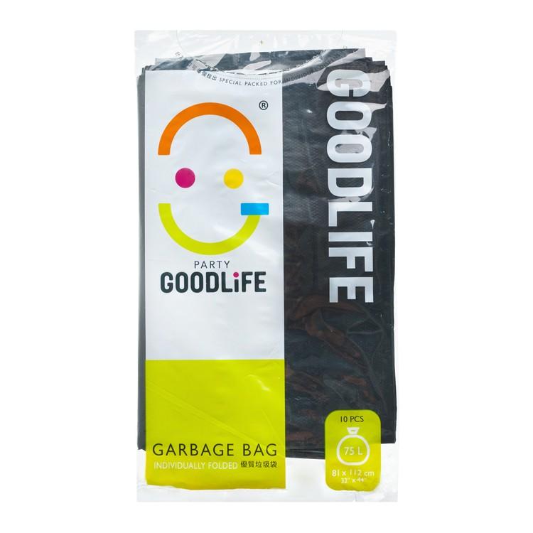 GOODLIFE - 70L DEGRADABLE BLACK GARBAGE BAG - 10'S