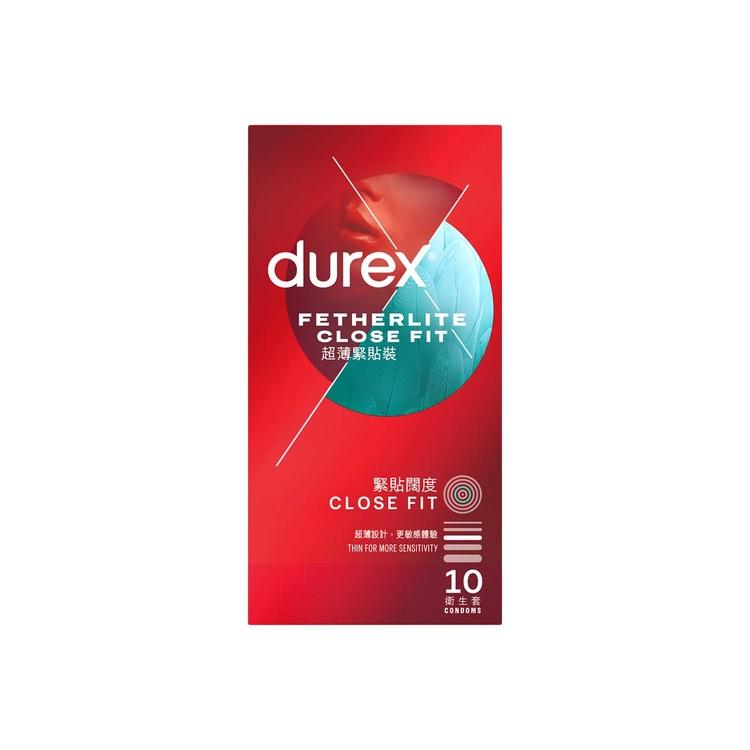 DUREX - FETHERLITE CLOSEFIT CONDOM - 10'S