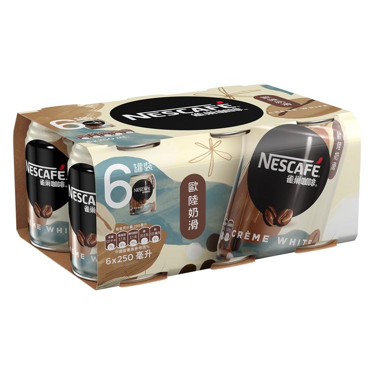 NESCAFE 雀巢 - 歐陸奶滑咖啡 - 250MLX6