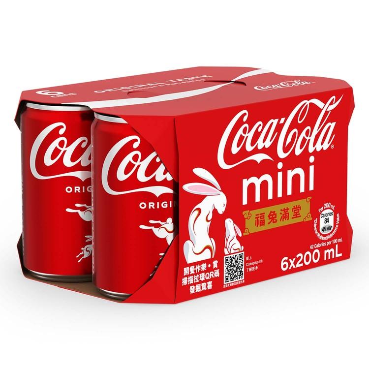 可口可樂 - 汽水迷你罐 - 200MLX6