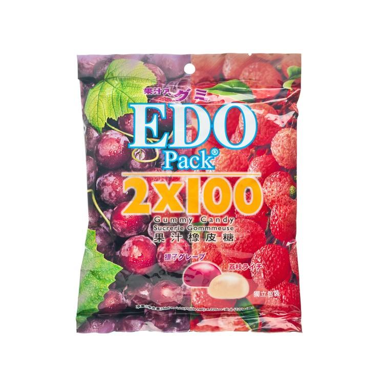 EDO PACK - 橡皮糖-荔枝+提子 - 120G