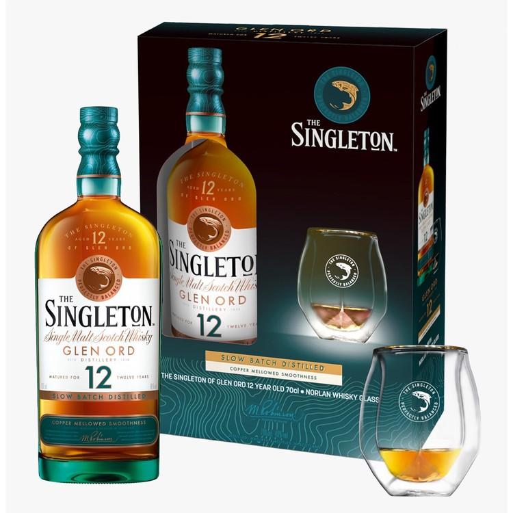 SINGLETON - GIFT BOX-WHISKY 12 YEARS & GLASS - SET