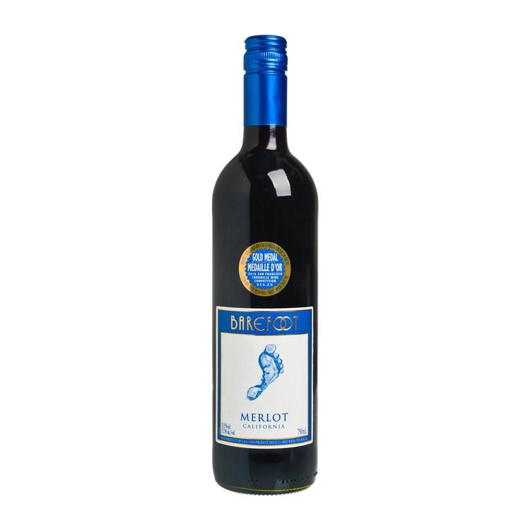 BAREFOOT - 紅酒-梅洛 - 75CL