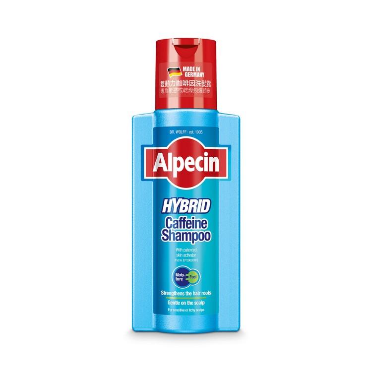 ALPECIN -  HYBRID CAFFEINE SHAMPOO - FOR SENSITIVE, ITCHY OR SCALPS / STRENGTHENS HAIR GROWTH AND REDUCES HAIR LOSS, - 250ML