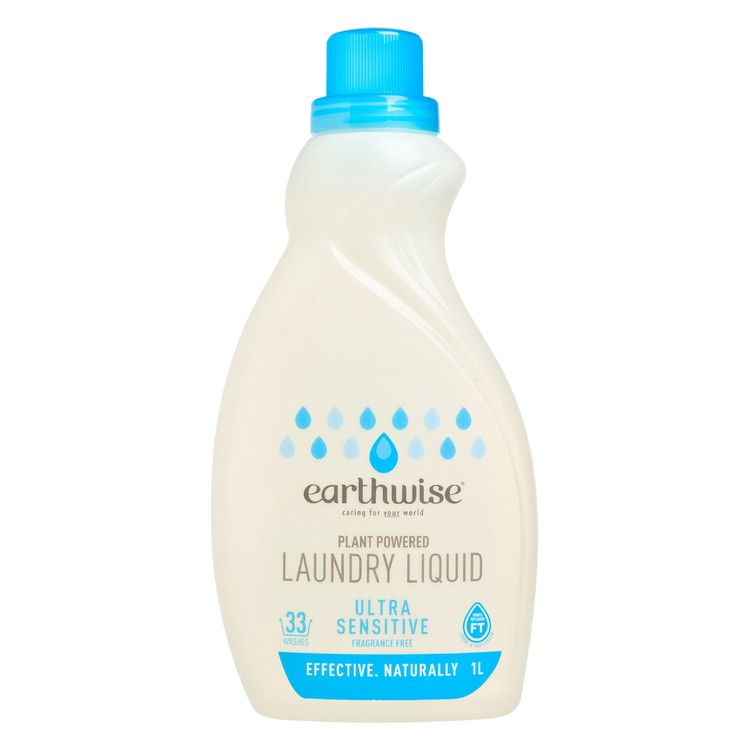 EARTHWISE - LAUNDRY LIQUID - FRAGRANCE FREE - 1L