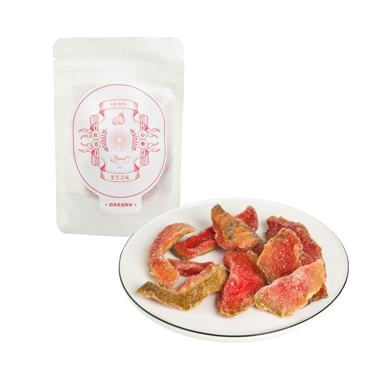 FRUITIONS - DRIED RED GUAVA - 35G
