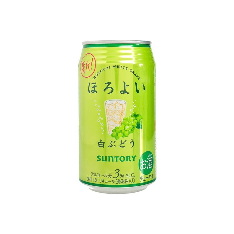 SUNTORY - HOROYOI CHUHAI DRINK-WHITE GRAPE  (ALCOHOL 3%) - 350ML