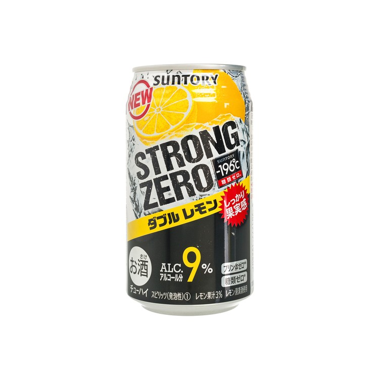 三得利 - 碳酸酒-STRONG ZERO-雙重檸檬 - 350ML