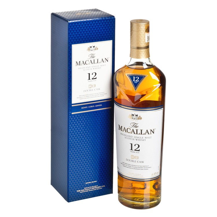 MACALLAN - HIGHLAND SINGLE MALT DOUBLE CASK SCOTCH WHISKY-12 YEARS OLD - 70CL