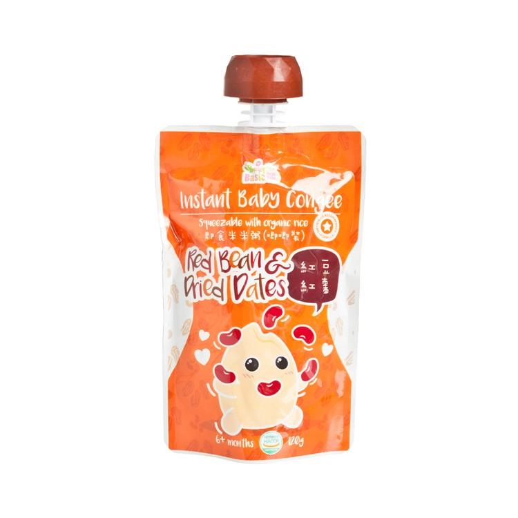 寶寶百味 - 即食有機米米粥(唧唧裝) - 紅豆紅棗 - 120G