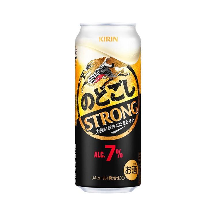 麒麟 - 啤酒-NODOGOSHI STRONG (巨罐裝)   (此日期前最佳: 2021年2月28日) - 500ML