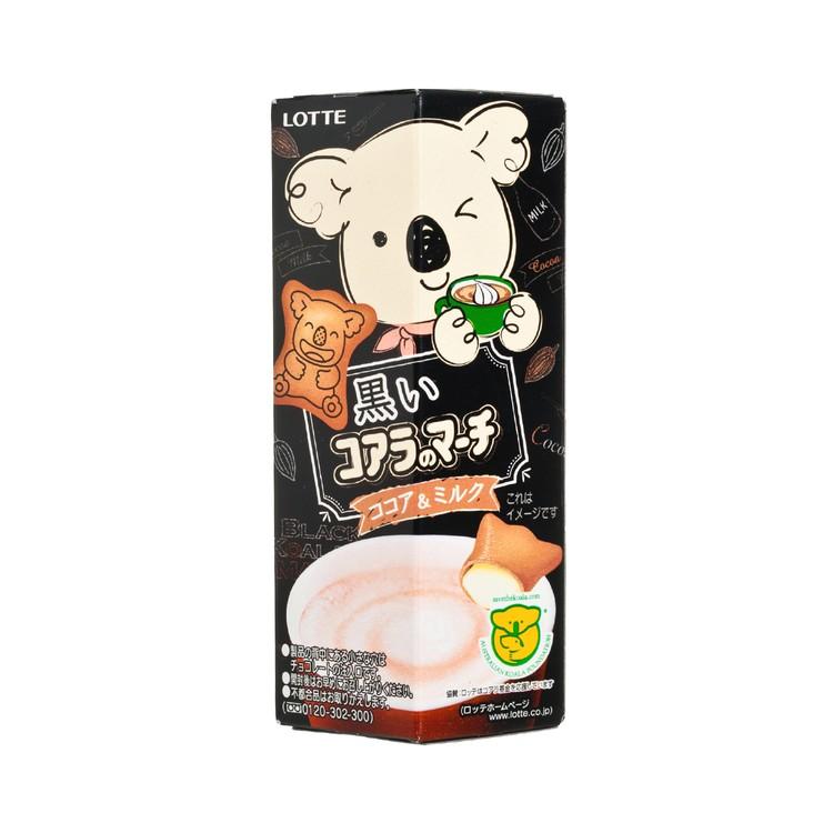 樂天 - 熊仔餅-黑朱古力牛奶 - 48G