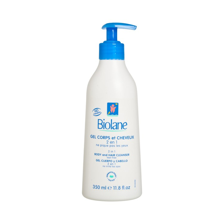 BIOLANE - 2 IN 1 BODY AND HAIR CLEANSER SOAP FREE-TEAR FREE - 350ML