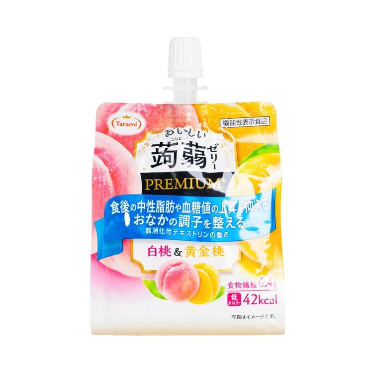 TARAMI - KONNYAKU JELLY DRINK-PEACH&GOLDEN PEACH - 150G