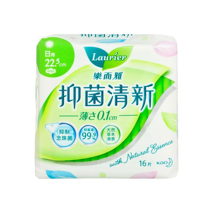 樂而雅 - 抑菌清新絲薄日用 22.5CM - 16'S