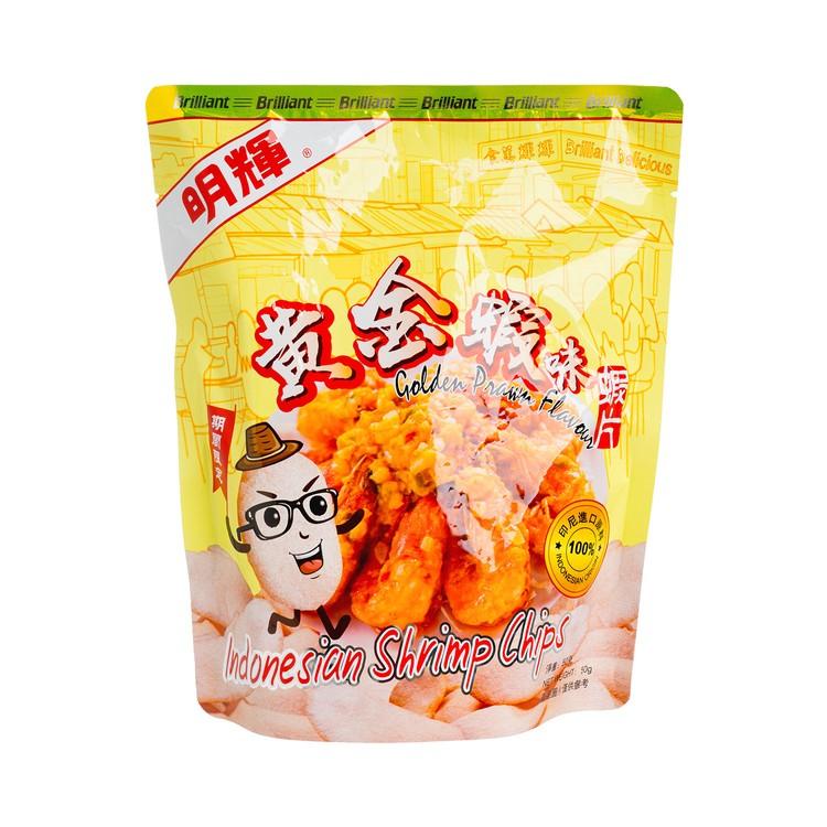 明輝 - 印尼蝦片-黃金蝦味 - 50G