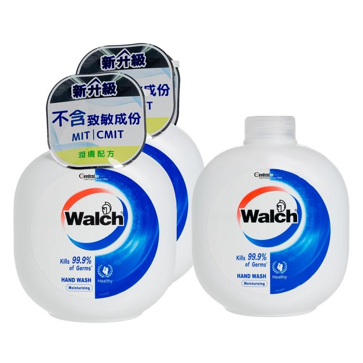 WALCH - HAND WASH GEL(TWINPACK) WITH REFILL-MOISTURIZING - 450MLX3