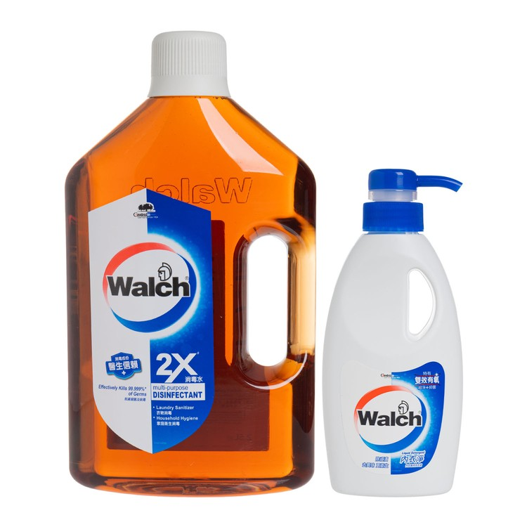 WALCH - MULTI-PURPOSE DISINFECTANT (2X) FREE LAUNDRY DETERGENT - 2.5L+300ML