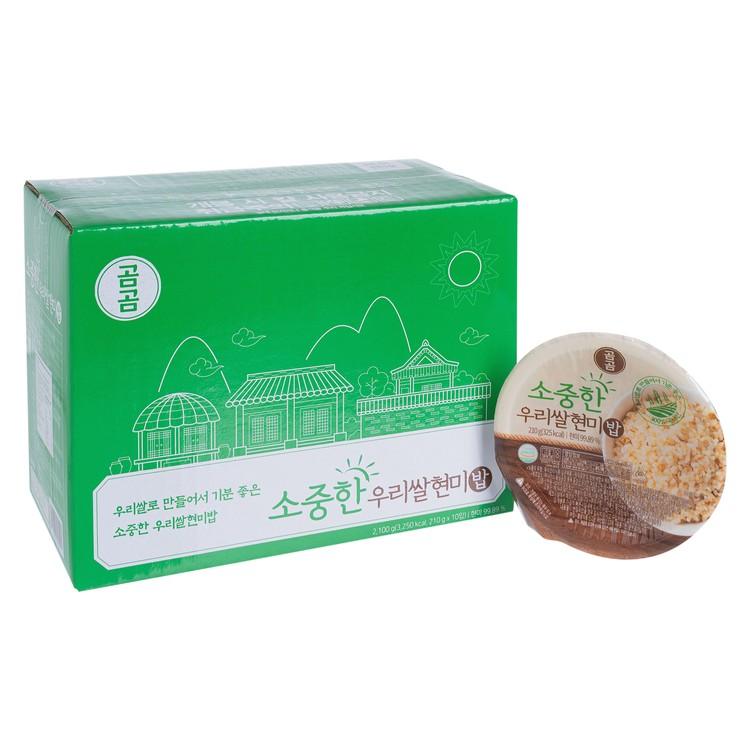 GOMGOM - 即食糙米飯-原箱 - 210GX10
