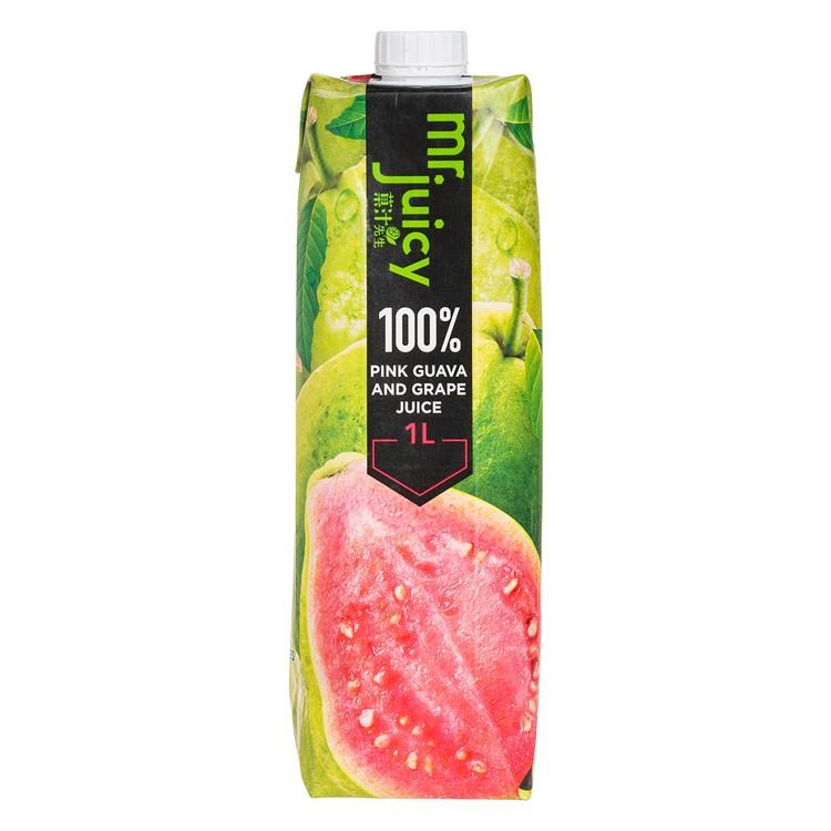MR. JUICY - 100 % PINK GUAVA & GRAPE JUICE - 1L