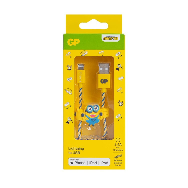 GP - MINIONS LIMITED EDITION 1M MFI CERTIFIED LIGHTNING CABLE - PC