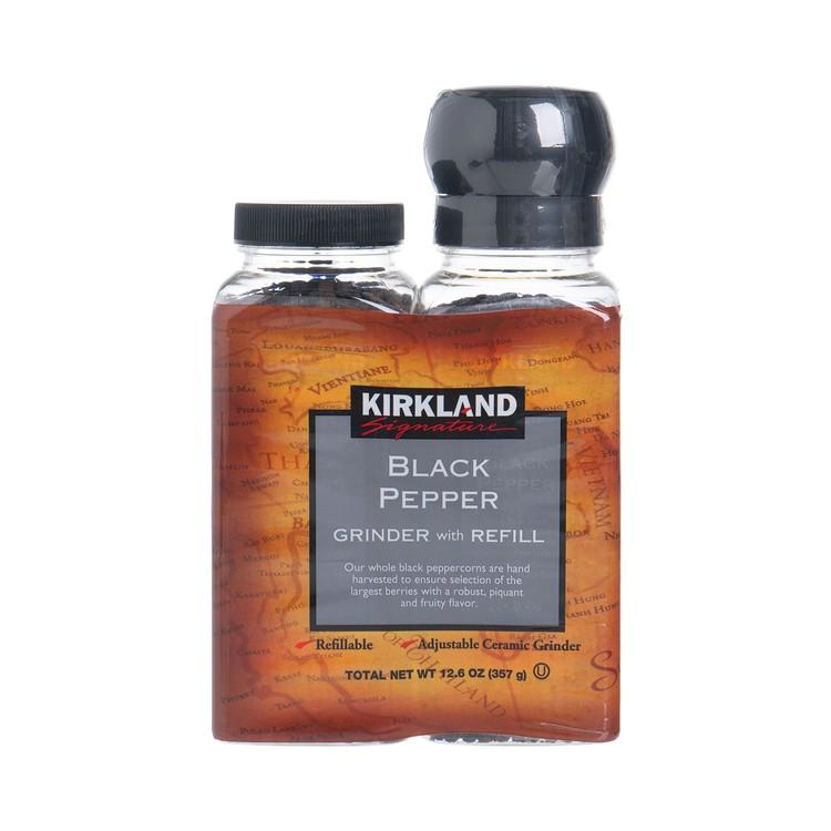 KIRKLAND SIGNATURE - BLACK PEPPER WITH GRINDER - 6.3OZX2