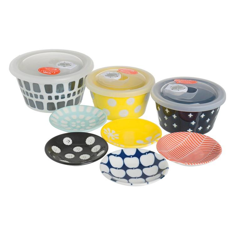 OGURA TOUKI - CERAMIC RANGE PACK AND SMALL PLATE SET - SET