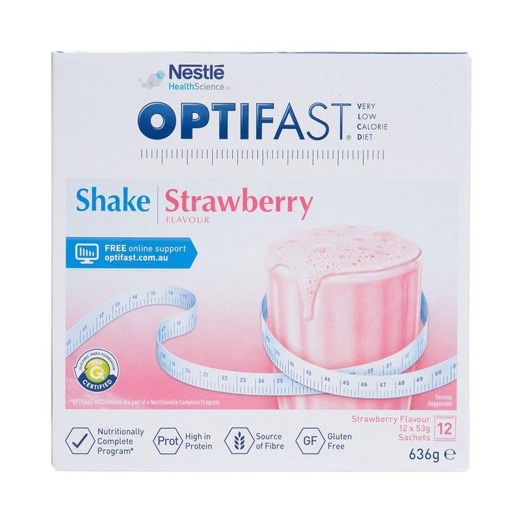 NESTLE HEALTH SCIENCE - OPTIFAST® WEIGHTLOSS MILKSHAKE (STRAWBERRY FLAVOUR) - 53GX12