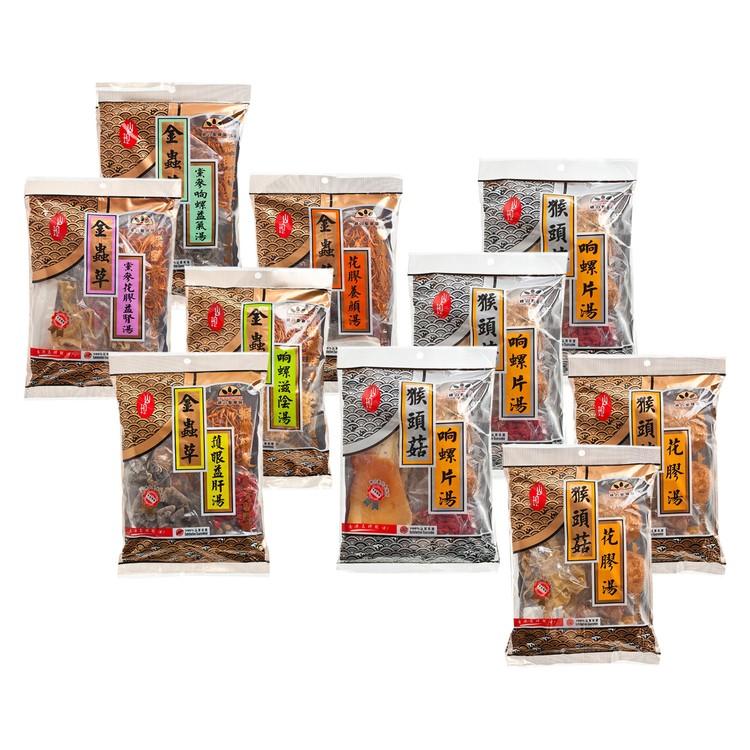 綠之聖 - 福袋-精選猴頭菇湯包+金蟲草湯包 (Q2)+(V8) - 585G