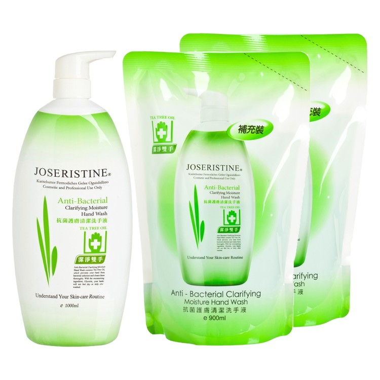 JOSERISTINE BY CHOI FUNG HONG - ANTI - BACTERIAL CLARIFYING MOISTURE HAND WASH BUNDLE SET - SET