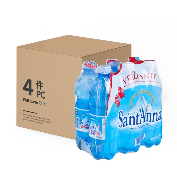 SANT' ANNA - SPARKLING MINERAL WATER  - 500MLX6X4
