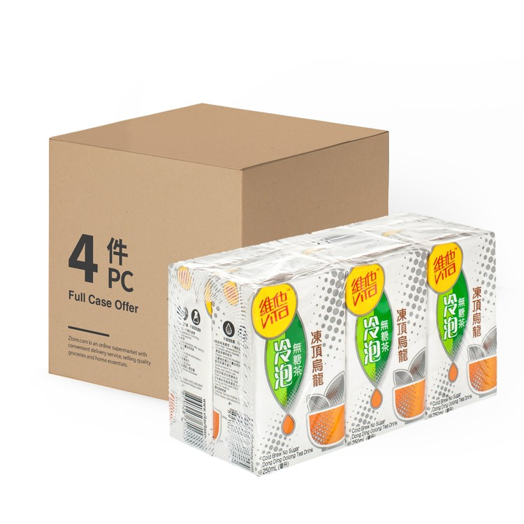 VITA - NO SUGAR TEA-OOLONG TEA-CASE OFFER - 250MLX6X4