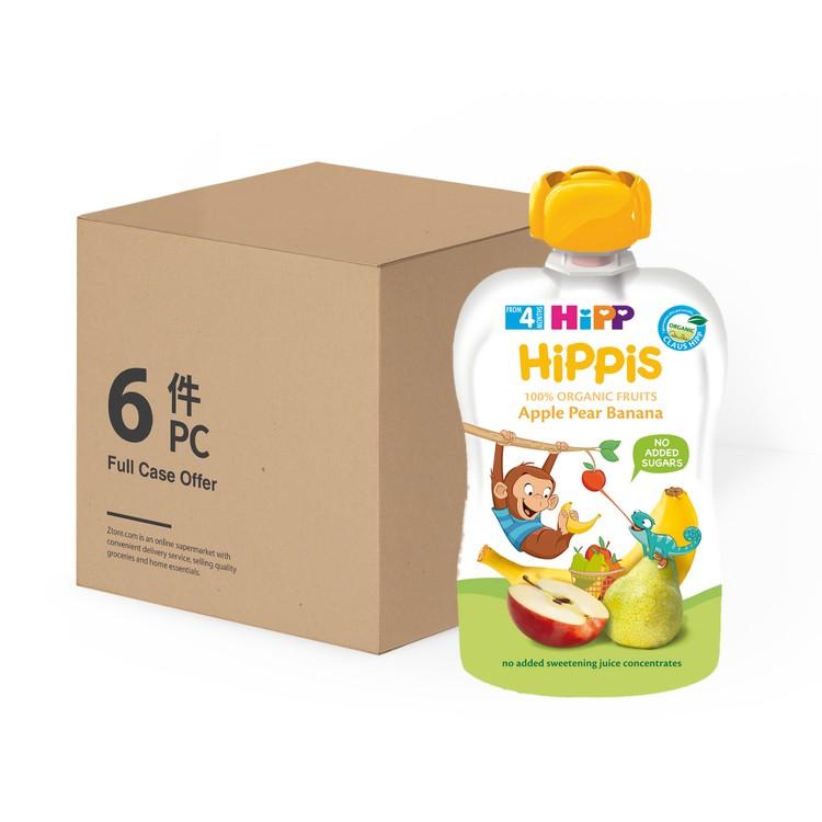 喜寶 - 有機蘋果洋梨香蕉唧唧裝-原箱 - 100GX6