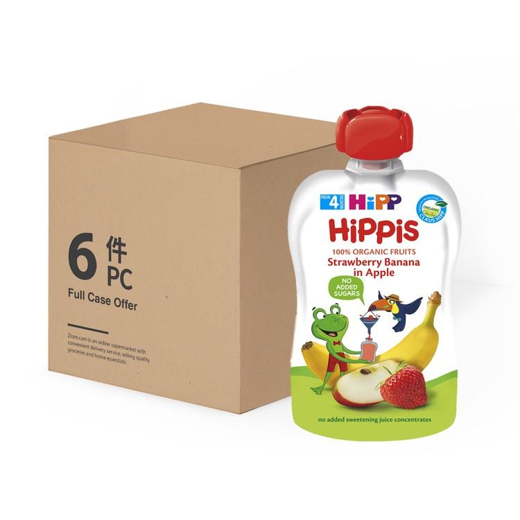 喜寶 - 有機草莓香蕉蘋果唧唧裝-原箱 - 100GX6