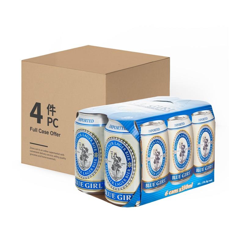 BLUE GIRL - BEER CAN-FULL CASE - 330MLX6X4
