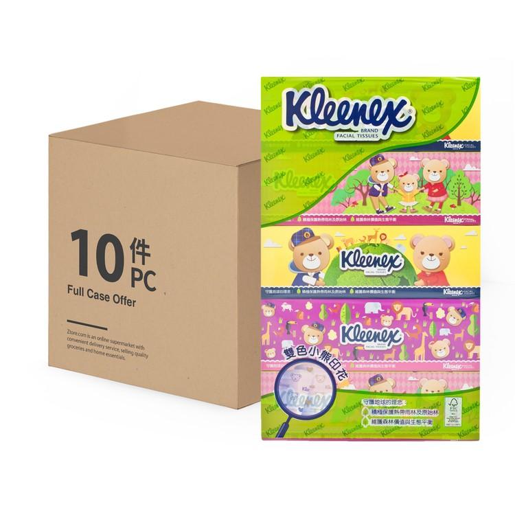 KLEENEX - TEDDY BEAR FACIAL BOX TISSUE(FULL CASE) - 5'SX10