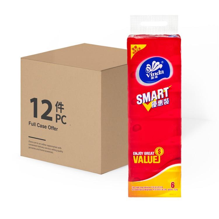 維達 - SMART優惠裝袋裝面紙180抽(原箱) - 6'SX12