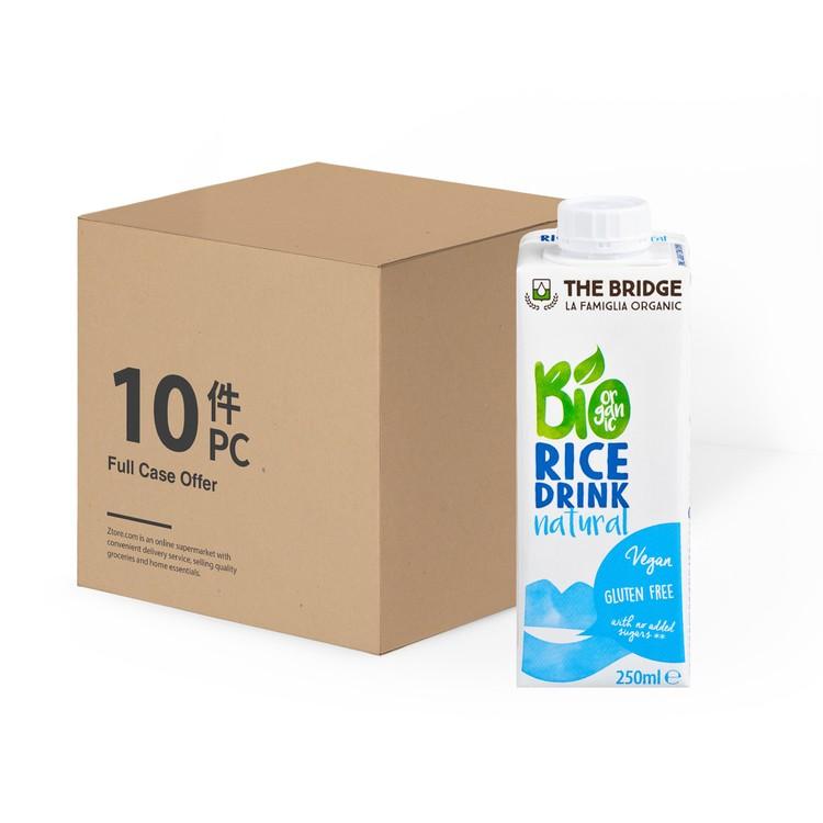 THE BRIDGE - BIO RICE DRINK-NATURAL - 250MLX10