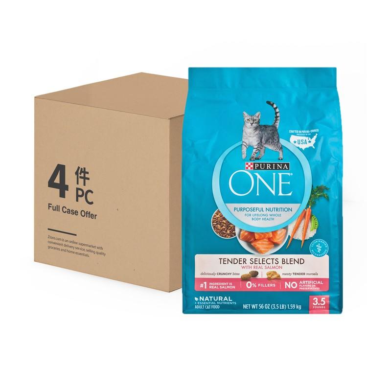 ONE - 乾貓糧 - 脆嫩三文魚配方 - 原箱 - 3.5LBX4