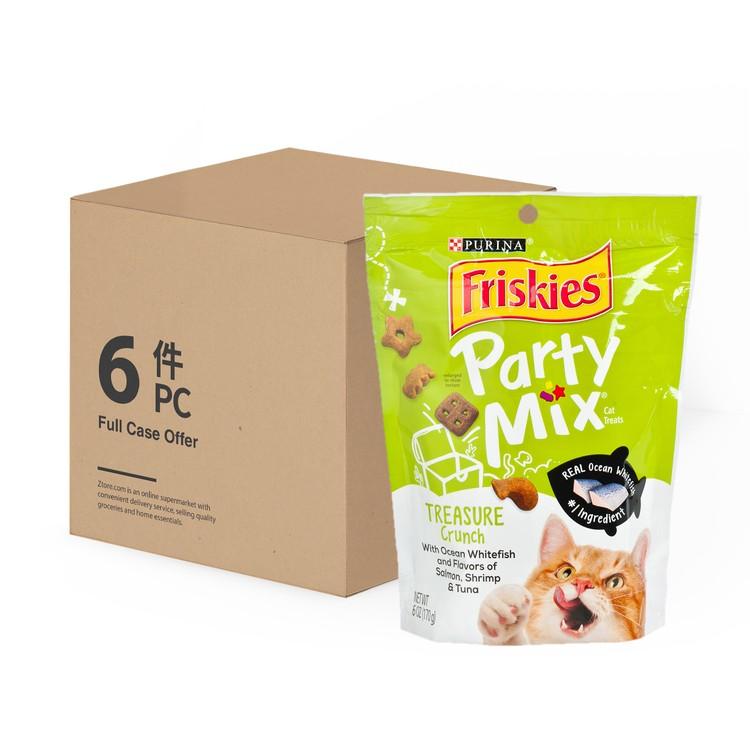 喜躍 - 鬆脆貓小食 - 三文魚、蝦及吞拿魚 - 原箱 - 170GX6